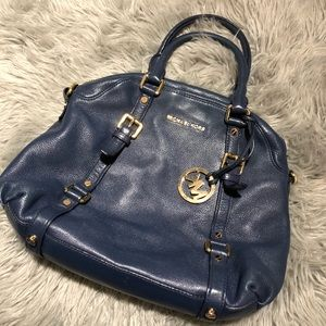 Michael Kors Blue Leather Handbag w/ ShoulderStrap